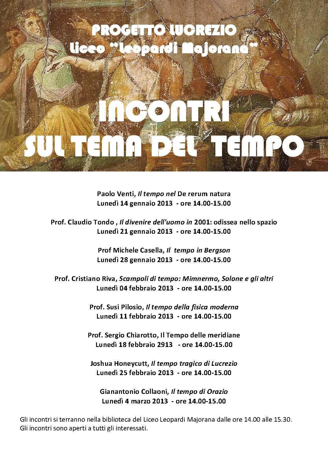 Conferenze Certamen Lucretianum