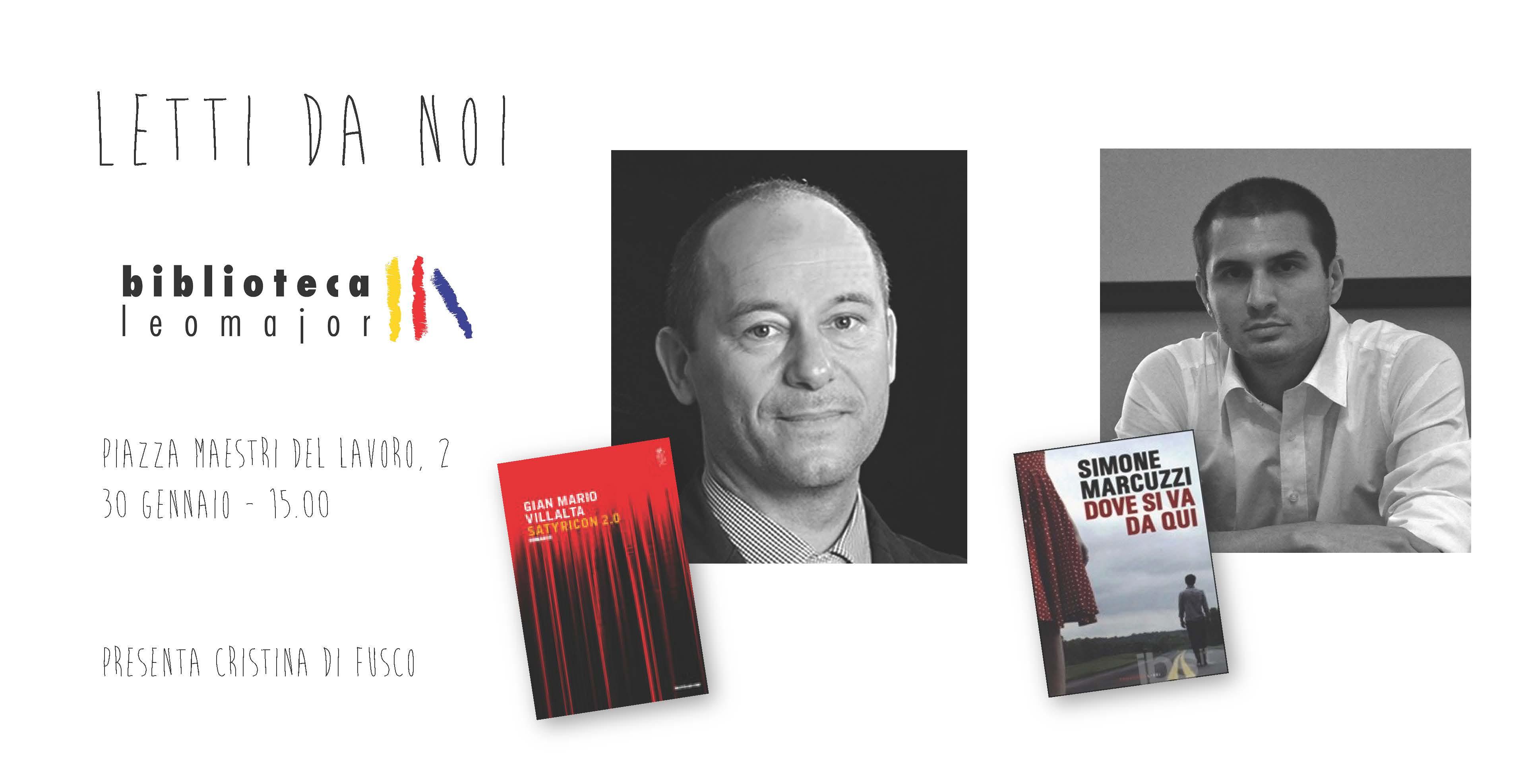 Letti da noi – Villalta e Marcuzzi in biblioteca il 30 gennaio alle 15.00