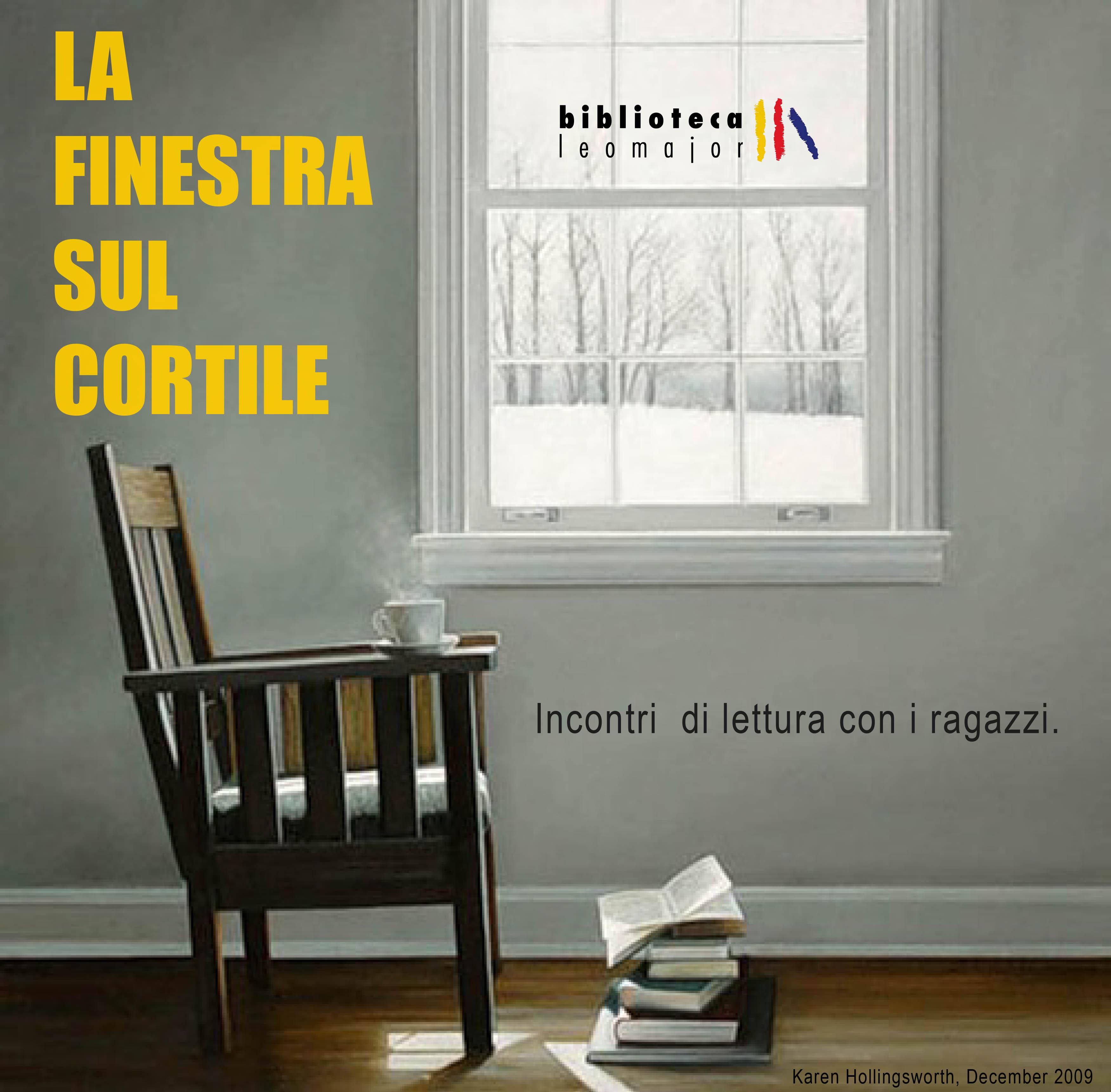 """""""La finestra sul cortile"""" – Incontri di lettura con gli studenti in biblioteca"""