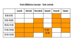 Orario Biblioteca 2017/18